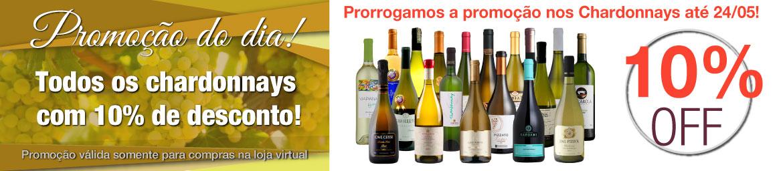 PROMOÇÃO DO DIA! Todos os vinhos chardonnays COM 10% DE DESCONTO!