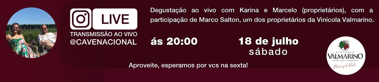 Degustação ao vivo com Karina e Marcelo (proprietários), com a participação de Rogerio Dardeau.
