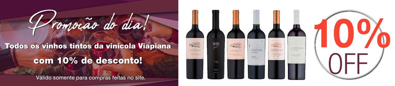Todos os vinhos tintos da vinícola Viapiana com até 10% de desconto!