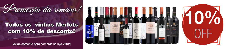 ???? Essa semana, todos os vinhos Merlots com 10% OFF!!!